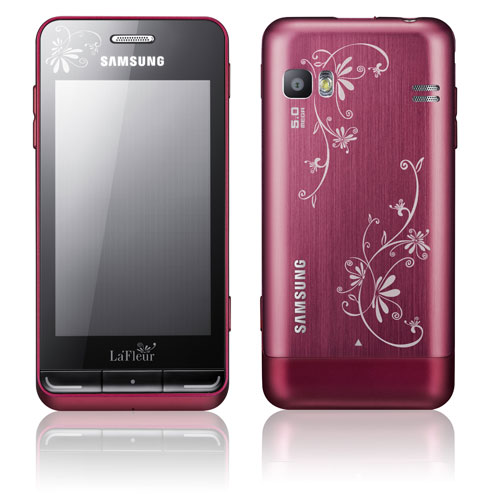 Bada OS powered Wave 723 will come in a dark pink color with white floral